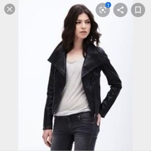 Danier leather zip biker jacket